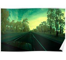 On the road, Albany Hwy near Kojonup, Western Australia Poster