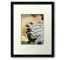 Cartoon Boats Framed Print