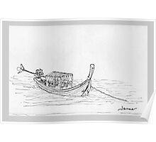 Thailand - Long tail passenger boat Poster