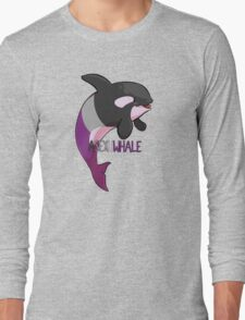 Asexuwhale - with text Long Sleeve T-Shirt