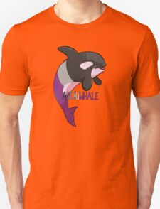 Asexuwhale - with text Unisex T-Shirt