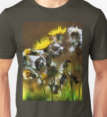 Dandelion Life Cycle with artistic filter Unisex T-Shirt