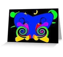 Moony the Snail Greeting Card