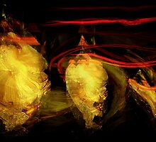 masks & blood ribbons #20...... abstract spaces by banrai