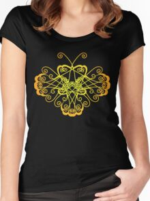 Butterfly ornament Women's Fitted Scoop T-Shirt