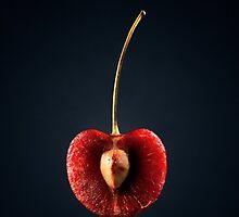 Red Cherry Still Life by Johan Swanepoel