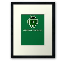 Droidarmy: Green Lantern (text) Framed Print
