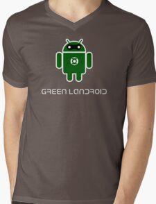 Droidarmy: Green Lantern (text) Mens V-Neck T-Shirt