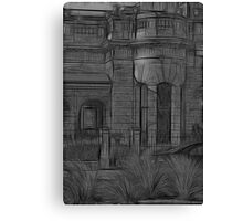 Creepy Beach House - (Desaturated HDR, and Fractalius) Canvas Print