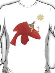 Girl on Flying Fish T-Shirt