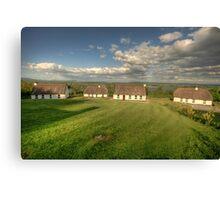Corofin Thatched Cottages Canvas Print
