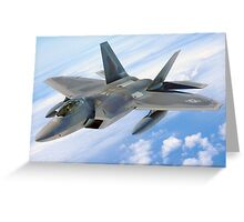F22 Raptor Greeting Card