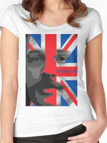 Bronson Movie Poster Women's Fitted Scoop T-Shirt