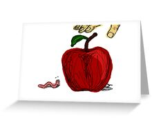 Apple Fight Greeting Card