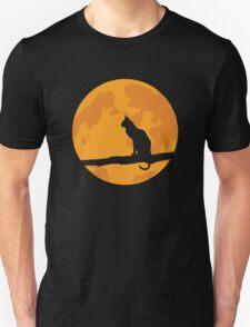 Full Moon Cat T-Shirt