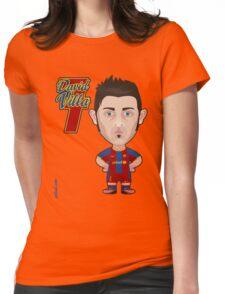 David Villa FC Barcelona Womens Fitted T-Shirt