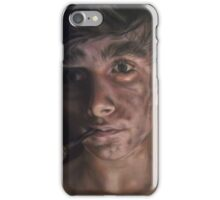 Young Sweep With HIs Pipe iPhone Case/Skin