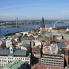 Riga Latvia view from St Peters Church - North by mikejohnson