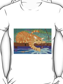 Cat Fishing Sort Of T-Shirt