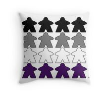 Asexual Pride (Meeple Edition) Throw Pillow