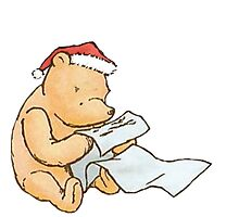 Pooh - Making a List Photographic Print