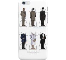 James Mason as Dr. Watson Paper Dolls iPhone Case/Skin