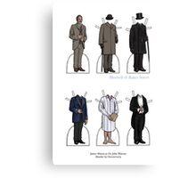 James Mason as Dr. Watson Paper Dolls Canvas Print