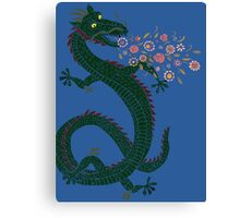 Flower-breathing Dragon Canvas Print