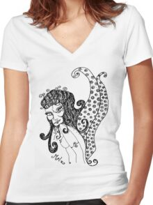 Sly Fairy Women's Fitted V-Neck T-Shirt