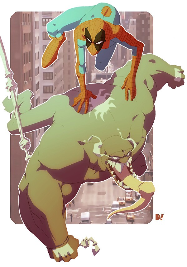 Venom and Spidey by Hugh Freeman