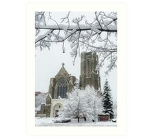 The Church of St. Mary/St. Paul in Winter Art Print