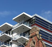 Architectural Contrasts by reflector