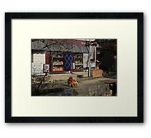 Winnie fishing Pooh Framed Print