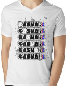 casual kicks x 6 Mens V-Neck T-Shirt