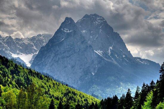 Mountain Zugspitze. Germany. by Daidalos
