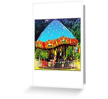 Merry-Go-Round Motion And Rhythm Greeting Card