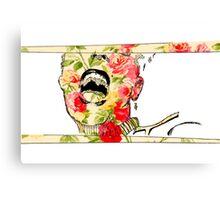 Pop Fire Floral Canvas Print