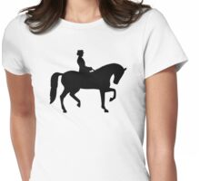 Dressage horse Womens Fitted T-Shirt
