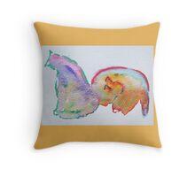Tie Dye Cats #2 Throw Pillow
