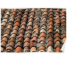 tiled roof texture Poster