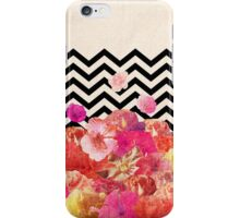 Chevron Flora II iPhone Case/Skin