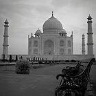 Taj Mahal Bench by Crispin  Gardner IPA