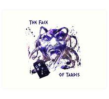 The Face Of Tardis Art Print