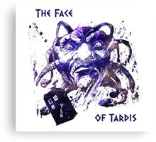 The Face Of Tardis Canvas Print