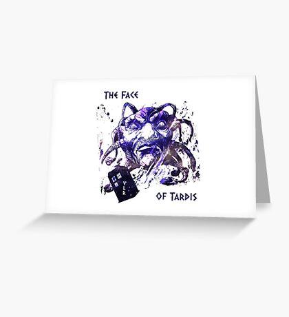 The Face Of Tardis Greeting Card
