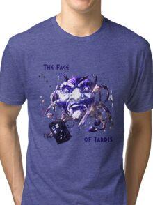 The Face Of Tardis Tri-blend T-Shirt