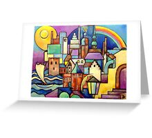 Riga Latvia - View from the West Bank Greeting Card