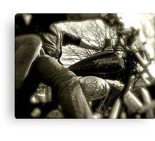 Born to ride.. Canvas Print
