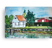 The Lake House, Switzerland Canvas Print