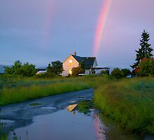 magic time, on the farm... by Allan  Erickson